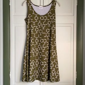 Cow cow chemistry skater dress